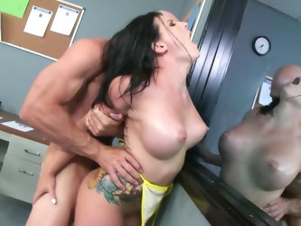 Known for her big sexual appetite and willingness to submit, Casey Cumz is having her pussy destroyed by the famous Johnny Sins. The bald stud is goin