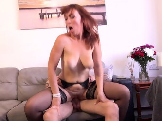 Mom tries young son's big cock