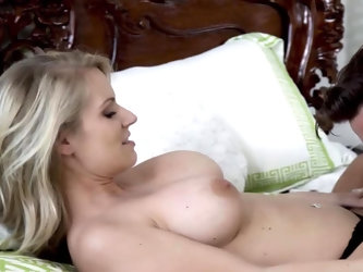 As soon as her big milf tits come out to play he can't resist. His only option is to get naked with her and enjoy an afternoon of wild, hot sex w