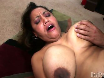 She is hefty granny with huge natural tits. She has got disgusting hairy snatch she is penetrated to upskirt. Horny guy bangs her hard in missionary p