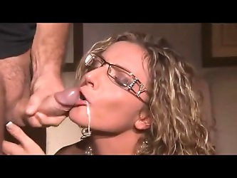 Italian Blonde Milf  Cum in Mouth