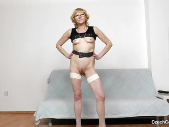 The old sluts from the Eastern bloc countries are always the dirtiest and Anna proves that's absolutely true. She spreads her legs and gapes her
