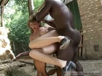 White farm girl with firm ass gets fucked by BBC on hardcore mode