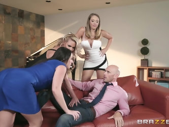nothing can please horny Angela White as a group fuck with friends