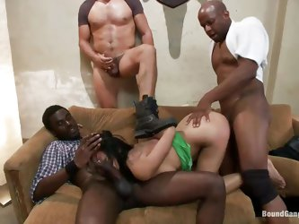 Asian milf Krissie Dee has the time of her life in a room filled with guys. They fuck all her holes. She sucks like a pro on their big meaty cocks. Wa