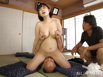 Wakaba's perfect boobs are still making guys wanna fill her up. This slutty Asian milf is not only smoking hot, she's eager to satisfy these