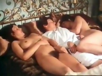 One horny guy fucks two retro chicks. They polish his cock greedily and fondle him like nobody else before. Don't skip exclusive retro clip featu