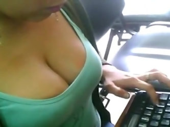 Cleavage at the Office - Voyeur Movies - Homemade Amate