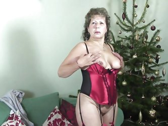 Olivia Ann is sexy granny with nice boobs and cherry like nipples. This bitch is always ready to make love with herself. Here at first this granny is