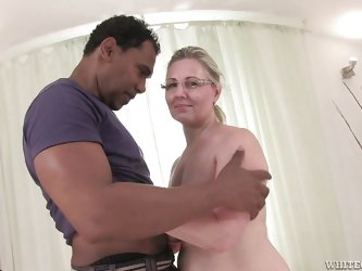 Granny Nicol has a pretty face and a big ass that just begs for a pounding. The blonde whore loves younger males, especially blacks and Franco is exac