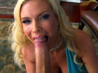 Blonde bombshell Diamond Foxxx is craving for hard flesh in her mouth. Unfortunately, her lover has got health problems so he can not satisfy her. So