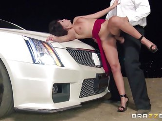 Ava is a sexy dirty slut who wants to have some revenge. She gets in her car and drives until a parking spot where she meets with her partner. She tak