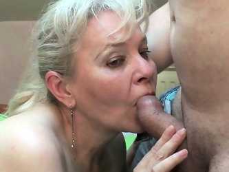 Grandma craves cock and cum