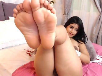 Kimberly Very Hot Petite Latina Teen Shows Feet and Spreads Her Bubblebutt