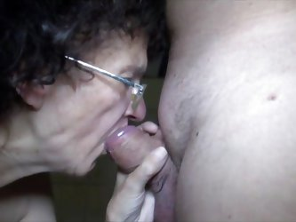 Granny Veronica knows how to suck my cock. She's a real pro with a huge background in sucking and swallowing hard dicks. Look at her sliding thos
