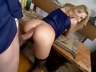 Short Clip With A Blonde Takes A Huge Cock Deep In Her Ass