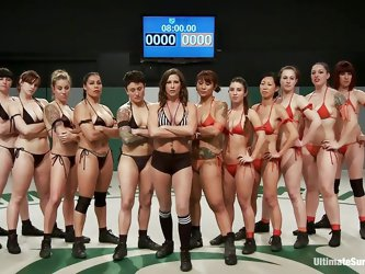 A lot of sluts and each of one wants to win! Well, it will be a very long and hard match but it worth seeing it. These bitches are hot and merciless,