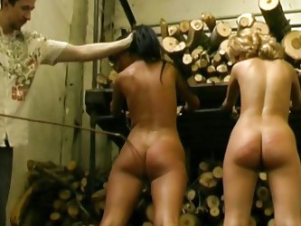 If you love torture, watch how pain and pleasure are mixed in an original combination! Two naked sluts have been bonded, hands in shackles and complet
