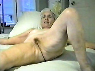 My neighbor's wife is so fucking horny. Even though she is an old lady she doesn't mind being naked all the time. This home video shows her
