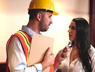 Angela White called repairman to her apartment and was happy to see that seasoned builder knows how to manage all problems. Also, he was handsome so b