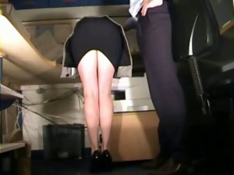 This seductive stewardess allowed me to take off her panties and spank her beautiful ass. Enjoy watching this reality sex video right now.