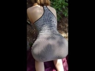 Super Tight Teen Sucks and Fucks in the Woods