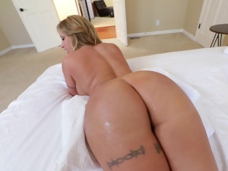 Well-rounded female exposes curves that can turn crazy anyone. She sucks pecker and gets fucked in bed on camera. Her giant butt cheeks look awesome e