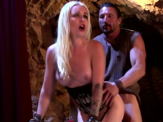 This recreation of medieval fucking includes a lot of different sex positions. Blonde babe wants to try out her partner's schlong in as many diff