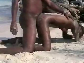 Skinny black female gets her tight and wet pussy reamed hard by her new friend's large and long cock making sexy and loud noises.