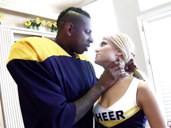 Football a black hunks reminds Sadie of high school and just like back then she's a fucking whore that loves big black cocks. Here she's get