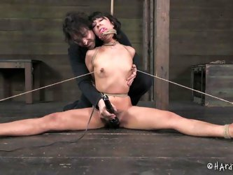 This bondage scenario with a helpless bitch kept in the basement against her will is delightful as the torture combines with lusty pleasures. Click to