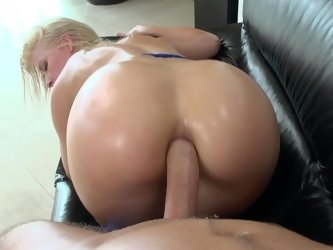 A blonde that loves anal sex is fucked in her tight little butt