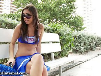 Hot Teen Cheerleader Gets Knocked Up By A Stranger!