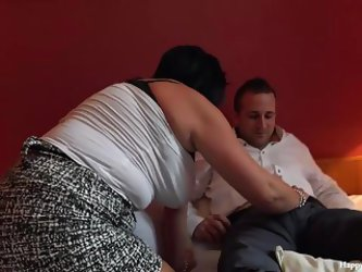 George And His Friend'S Mom Taboo Session - Footjob Han