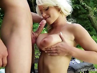 Czech Milf huge puffy nipples