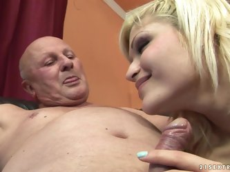Kitty Rich gets fucked and facialed by a horny old man