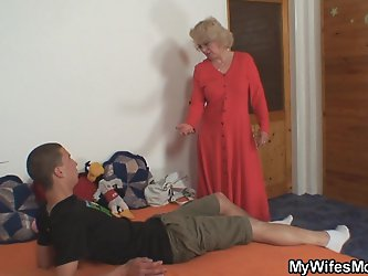 Secretly mother boy fucking in the next room