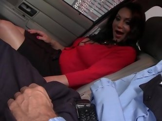 Cop bangs slutty milf Dayton Rains on the hood of his car