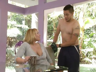 This guy is pleased with his wife, but he rather prefers his mother in law. Blonde and experienced, his mother in law sucks his cock better than his w