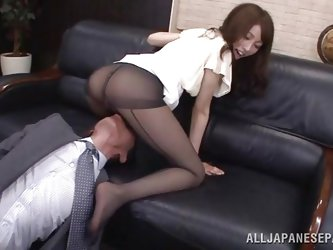 Arisu loves her boss and her job. She does everything in her power to make her employer happy even if it means to be a total slut. Arisu allows him to