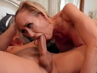 Hardcore experience between the busty mature and her step son
