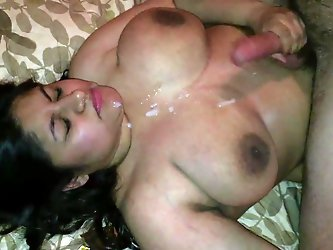 JANANI GETS HER INDIAN PUSSY STRETCHED BY A GIANT WHITE COCK