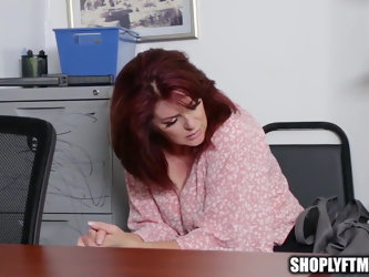Big Tit Mature MILF Caught Shoplifting Fucks Security Guard