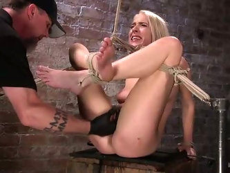 Moaning and crying whore Cadence Lux gets slapped a bit