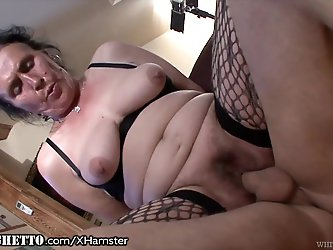 WhiteGhetto Hairy Granny Buttfucking