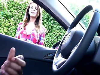 Guy In Car Flashes His Dick to Girl & She Loves It