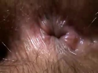 I love when my naughty wife wrinkles her moist hairy butthole. I spit on that delicious booty hole and finger bang my babe's back door.