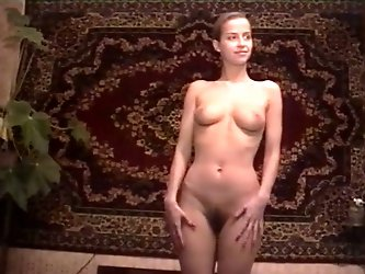 Exquisite amateur newbie in the bedroom undresses to show off her body on cam. Her perfect round ass and perky small tits are hypnotizing and beautifu
