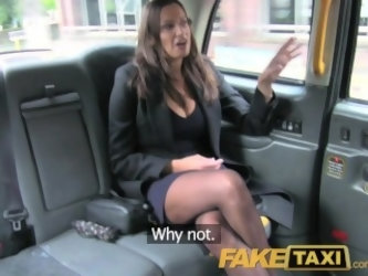 FakeTaxi Back seat fucking for hot Romanian babe with huge natural tits