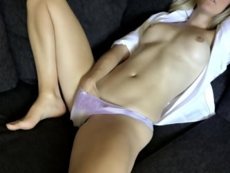Home alone with only my rabbit to help me orgasm - solo female masturbation
